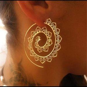 Spiral Hoop Boho Earrings